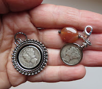 mercury dime pendant and charm