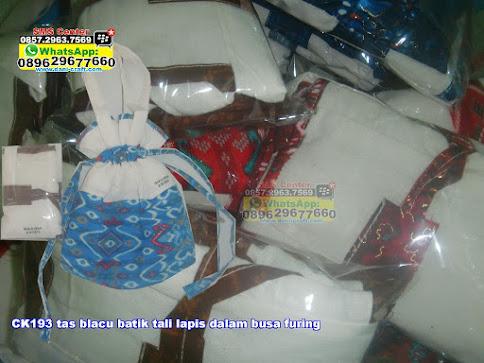 tas blacu batik tali lapis dalam busa furing unik