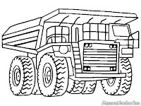 Mewarnai Gambar Mobil Dump Truk Pertambangan