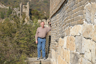 Bob Inich entering the Great Wall at Lianyunling