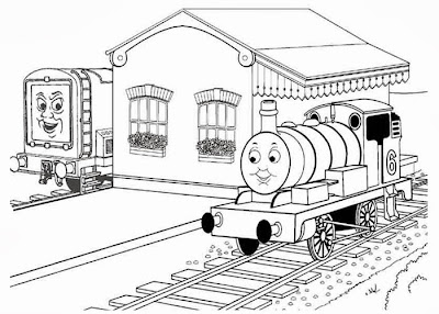 Toby thomas tank engine coloring pages for Percy the train coloring pages