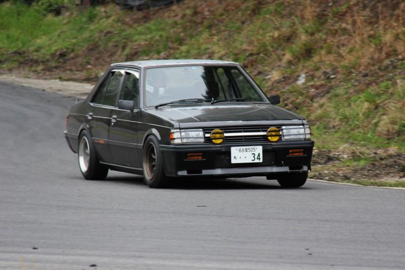 stary Mitsubishi Lancer, wyścigi, klasyczne sportowe sedany, Japonia, JDM, zdjęcia
