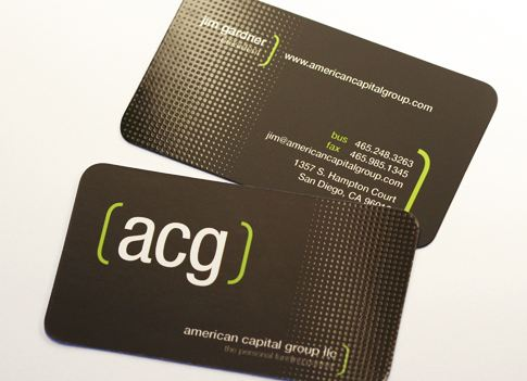 Unique business cards business card ideas for entrepreneurs the acg silk card utilizes a custom spot gloss pattern and rounded corners to create a professional brand reheart Image collections