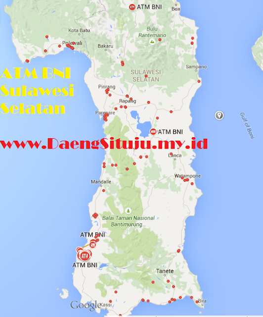 Spot ATM BNI di Sulawesi Selatan