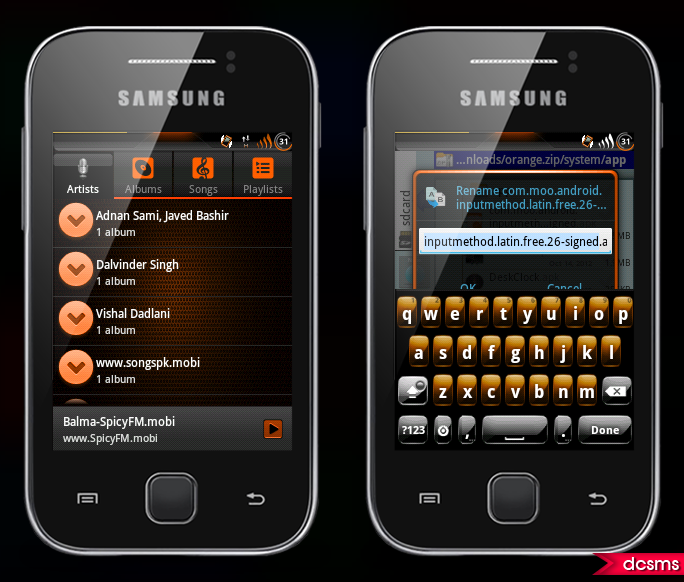 theme for your galaxy y its installs on any custom rom of galaxy y if