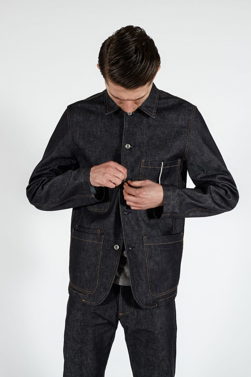 Workshop Denim Bakers Chore Coat