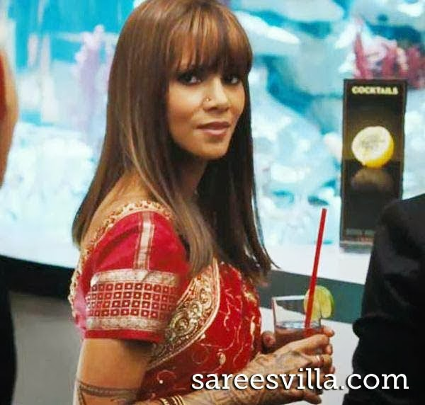 Halle Berry in saree