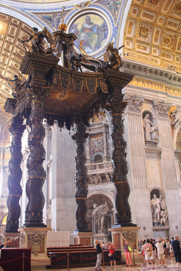 Bernini's bronze canopy on the High Altar above the tomb of St Peter