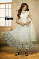 Buy Indian Bollywood designer bridal Readymade Anarkali salwar kameez White dress  at ebay