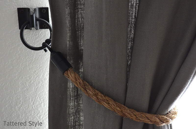 Tattered Style: Restoration Hardware Rope Tiebacks / DIY