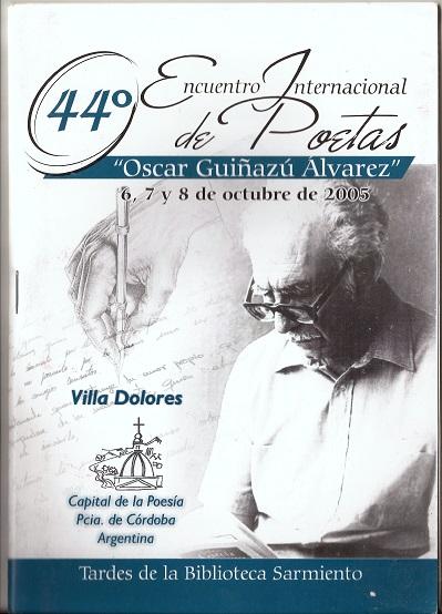 44° Encuentro Internacional de Poetas