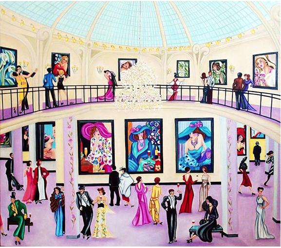 The Mezzanine Exhibit - Inspired by de Lempicka