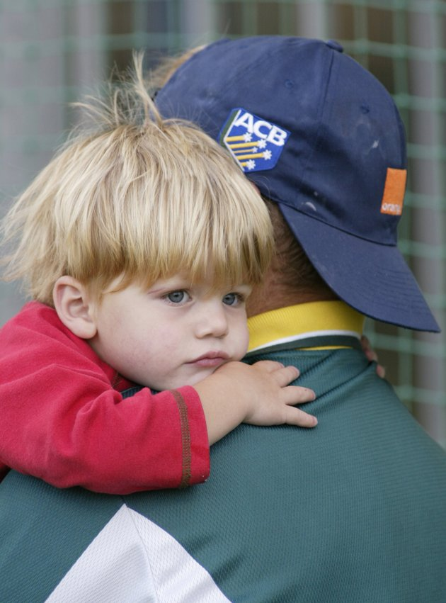 Shane Warne With son Jackson
