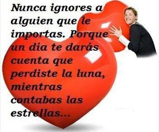 Nunca ignores a alguien a que le importas