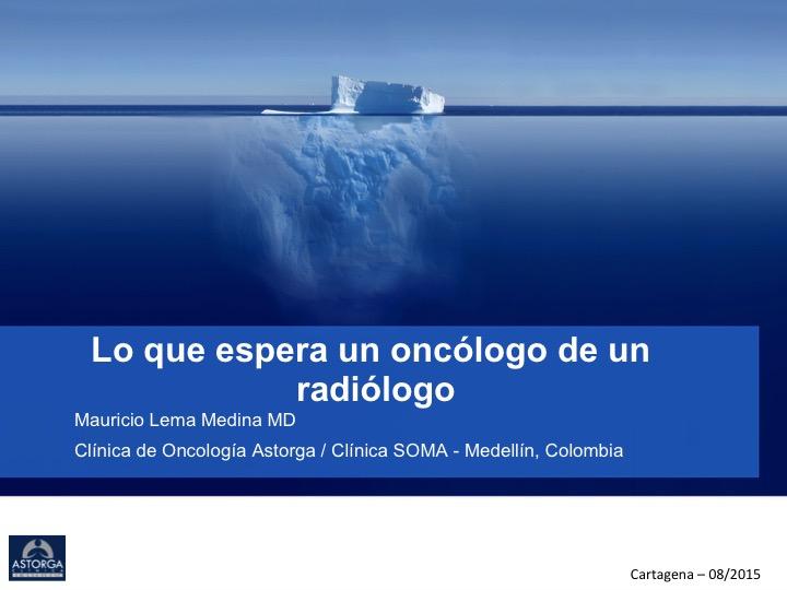 Hematología y Oncología: Ponencia \