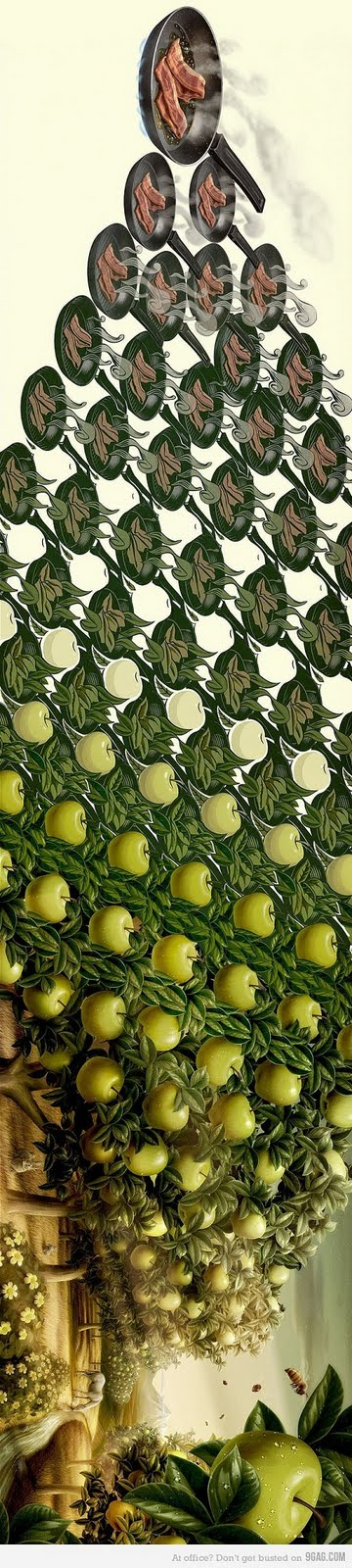 Tocino y manzanas