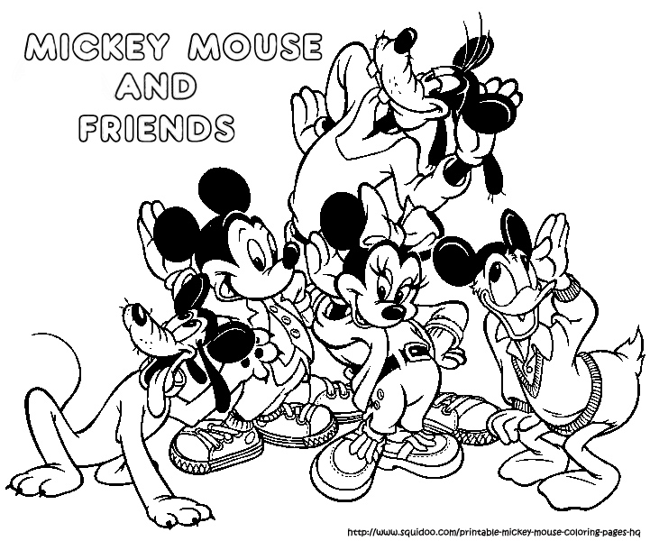 Disney Coloring Pages Mickey Mouse And Friends : Free coloring pages of mickey mouse and friends