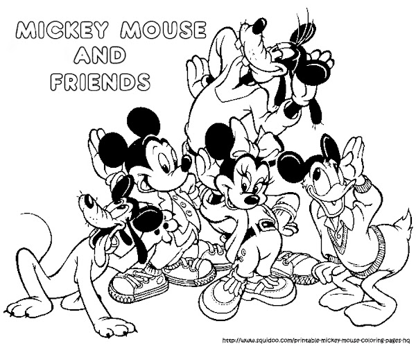Mickey Mouse and Friends Coloring Page