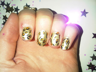 final result leopard print nails