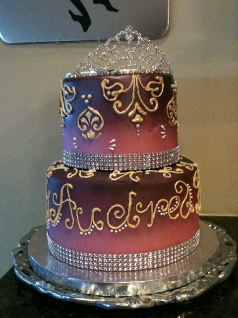 Fabulous 40 with Pink and Bling I Do Cakes