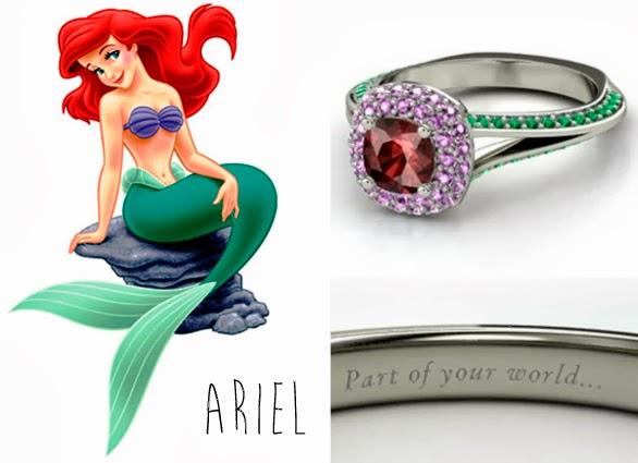 blog Mamãe de Salto aliança inspirada nas princesas da Disney Ariel