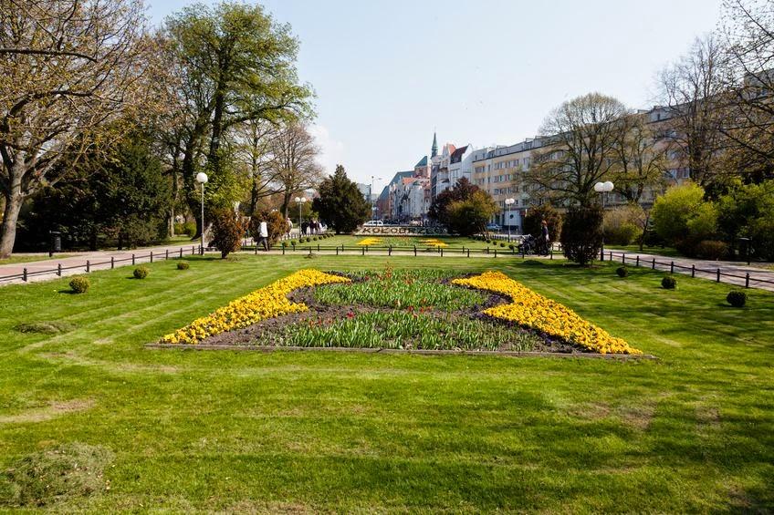 park w centrum Kołobrzegu