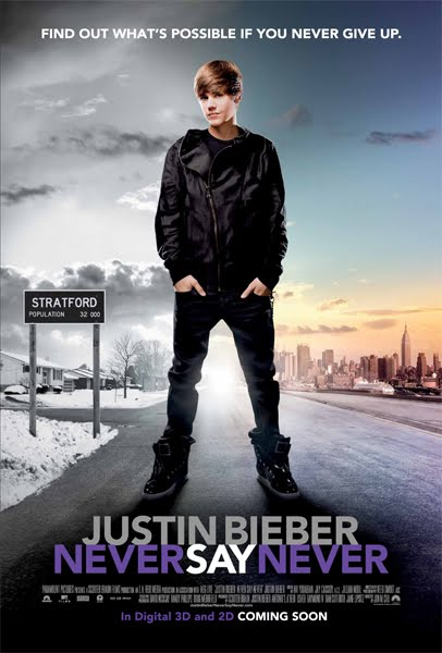 justin bieber movie cover. justin bieber never Cover