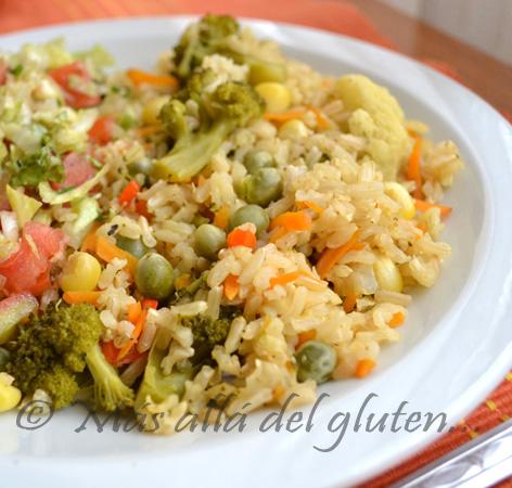M s all del gluten arroz integral con verduras - Arroz con pescado y verduras ...