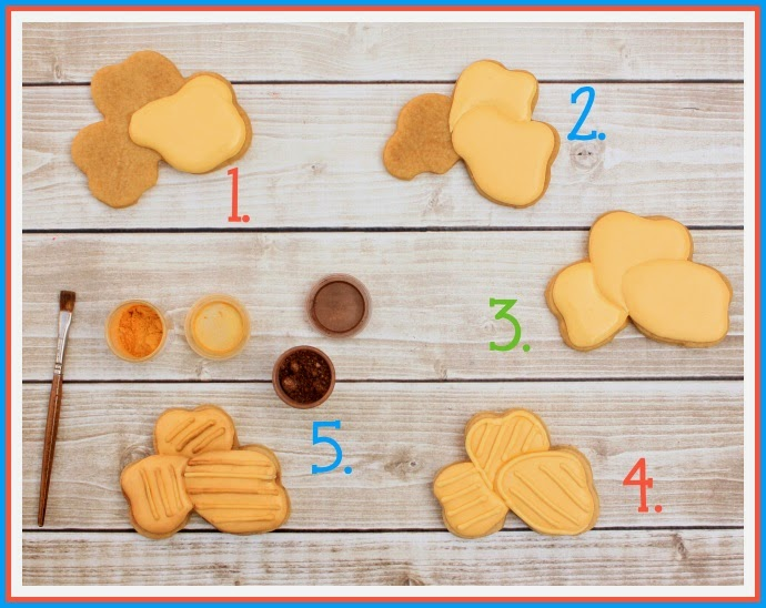 Decorated Chips cookies tutorial