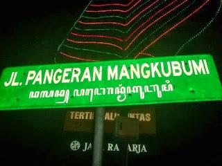 3 nama Jl dari Tugu kearah Kraton Yogyakarta ganti nama