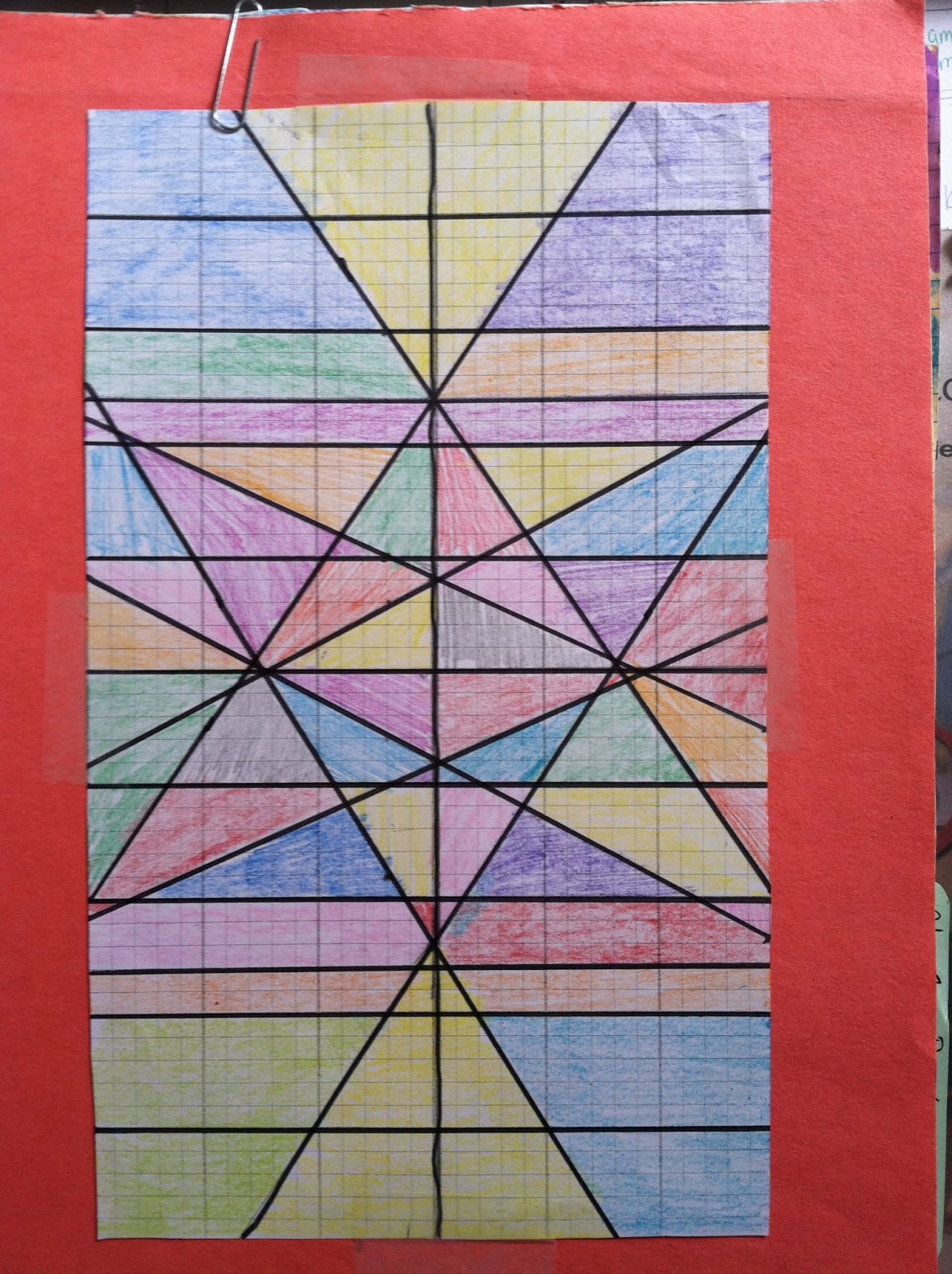 8 is my lucky number: Stained Glass Window - graphing lines