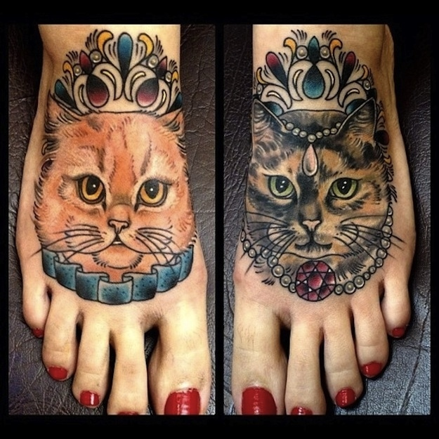 Cool cat tattoos damn cool pictures for Tatoo gatos
