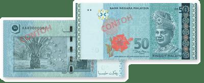 Wang Kertas Dan Duit Syiling Malaysia Siri Baharu - RM50