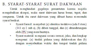 Syarat Syarat Surat Dakwaan Pidana