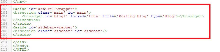 Cara Membuat Sidebar Kanan Pada Template Blog