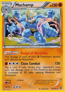 Machamp Plasma Blast Pokemon Card