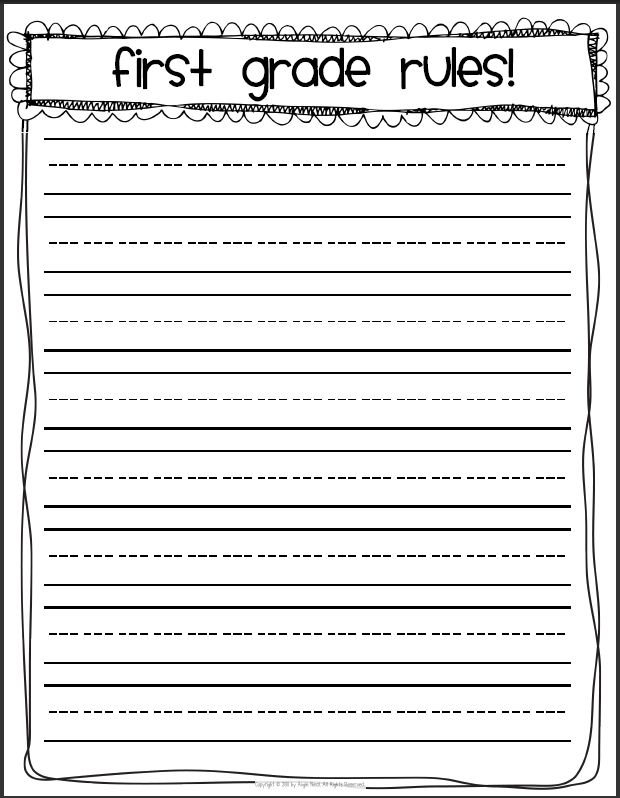 writing paper with lines for 1st graders This has one box, for a picture and 2 to 3 lines below for a sentence or two about their picturethe kindergarten and first grade look different so i will show you both i will also show you my second graders writing papers.