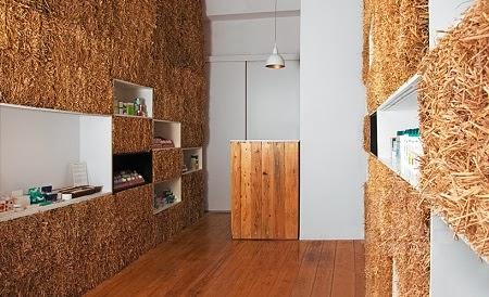 Tienda Ambientada con Fardos de Paja, Ideas Ecológicas y Baratas para Decoracion