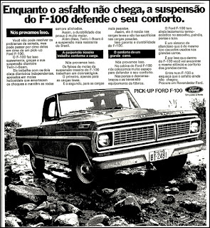 Ford, brazilian advertising cars in the 70s; os anos 70; história da década de 70; Brazil in the 70s; propaganda carros anos 70; Oswaldo Hernandez;