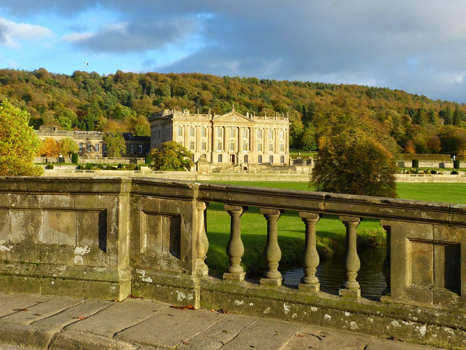 Chatsworth from the stone bridge