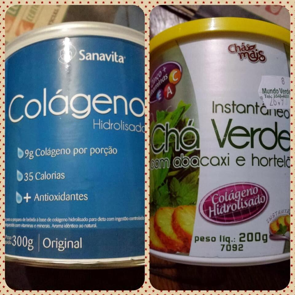 Colágeno Hidrolisado  em pó e Chá Verde com colágeno