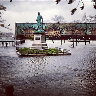 Hurricane sandy hits New York leaving 13 dead, 6.5 million people without power and terrible damages.