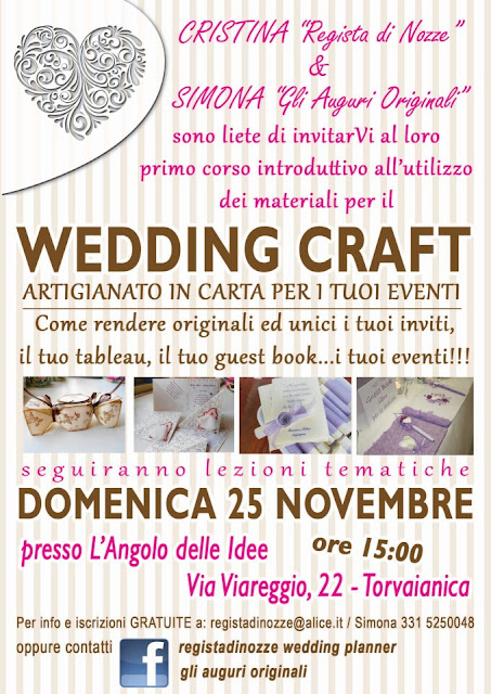 corso wedding craft roma