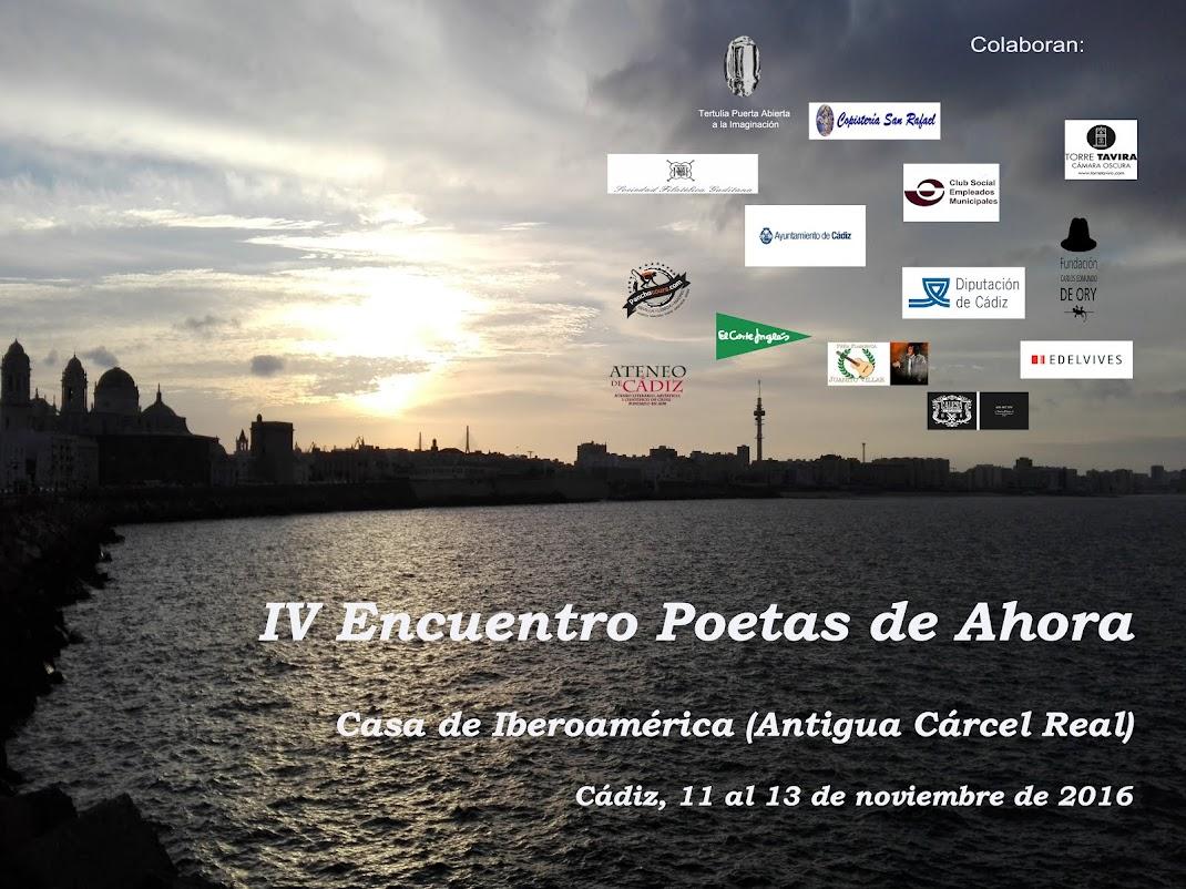 Encuentro Poetas de Ahora- Cádiz 2016