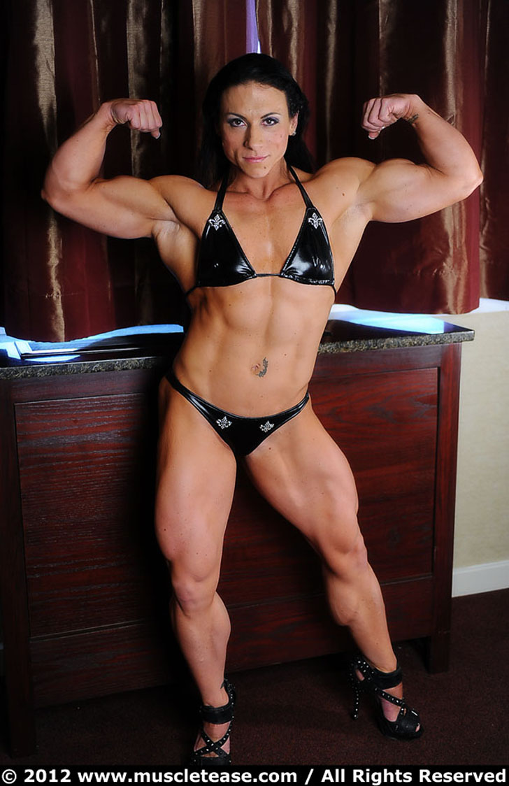 Gillian Kovack Flexing Her Biceps And Modeling Her Built Physique