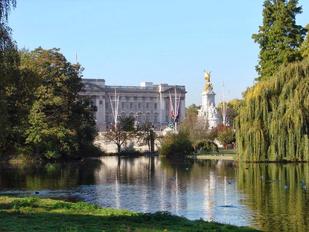 Вид Букингемского Дворца