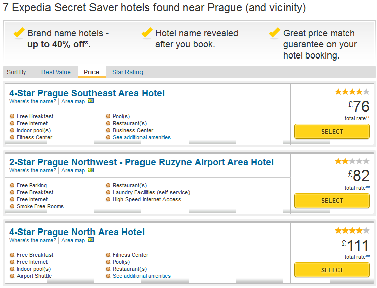 Clicking On Its Description You Get The Following Information Regarding This 4 Star Hotel