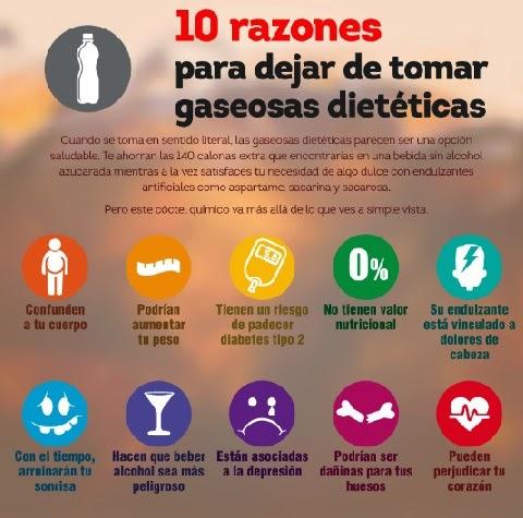 BEBIDAS DIETETICAS Y RIESGOS PARA TU SALUD