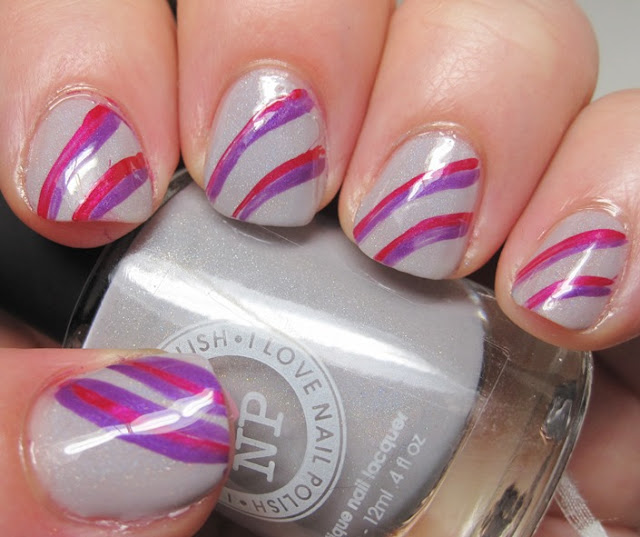 Bright stripes over grey