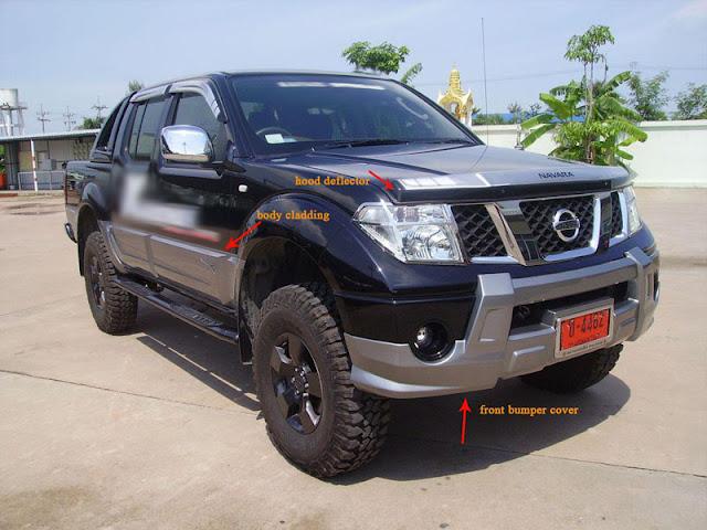 Nissan navara styling body kit 2012